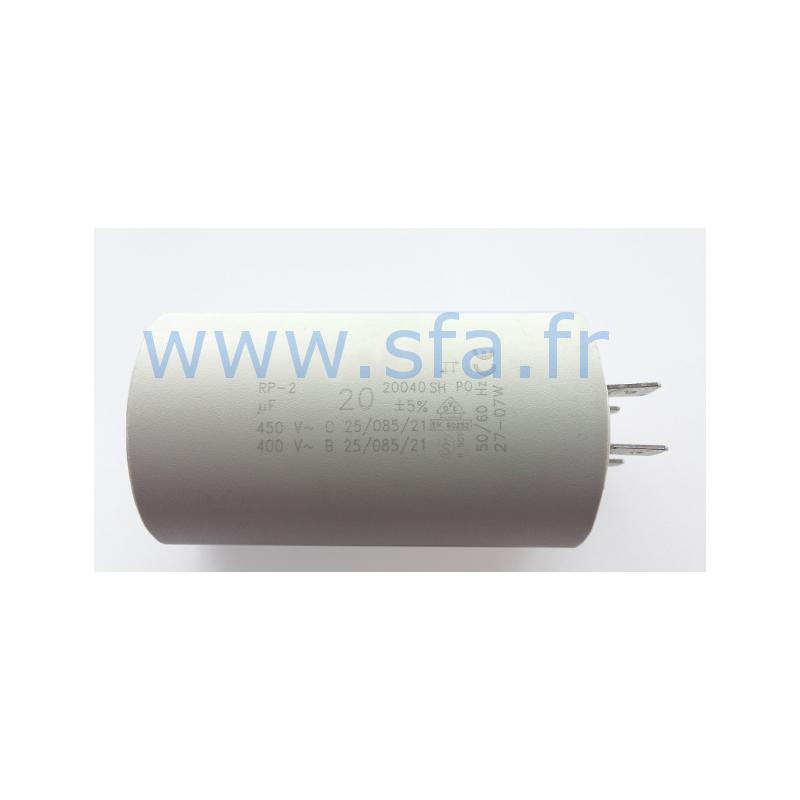 Condensateur de 20 µF à cosses